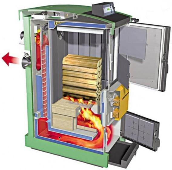 Caldaia a biomassa.